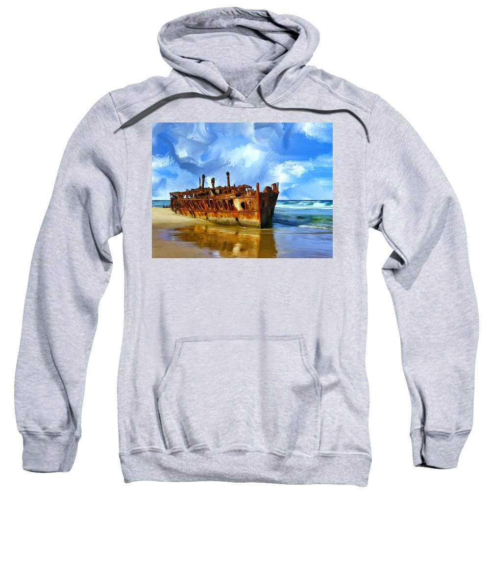 Final Resting Place Sweatshirt featuring the painting Final Resting Place by Dominic Piperata