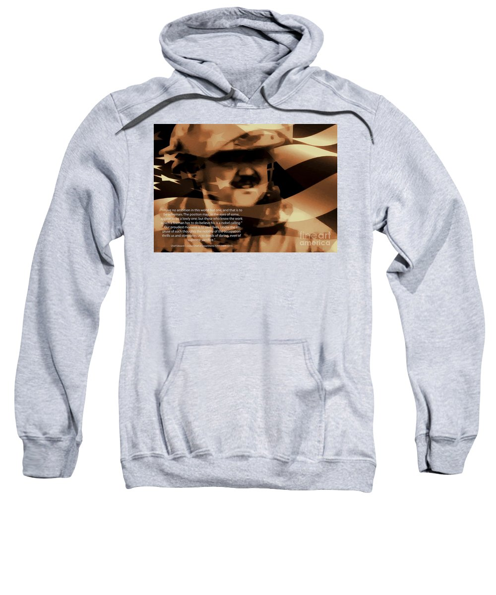 Firefighter Sweatshirt featuring the photograph Fireman Self Portrait by Tommy Anderson