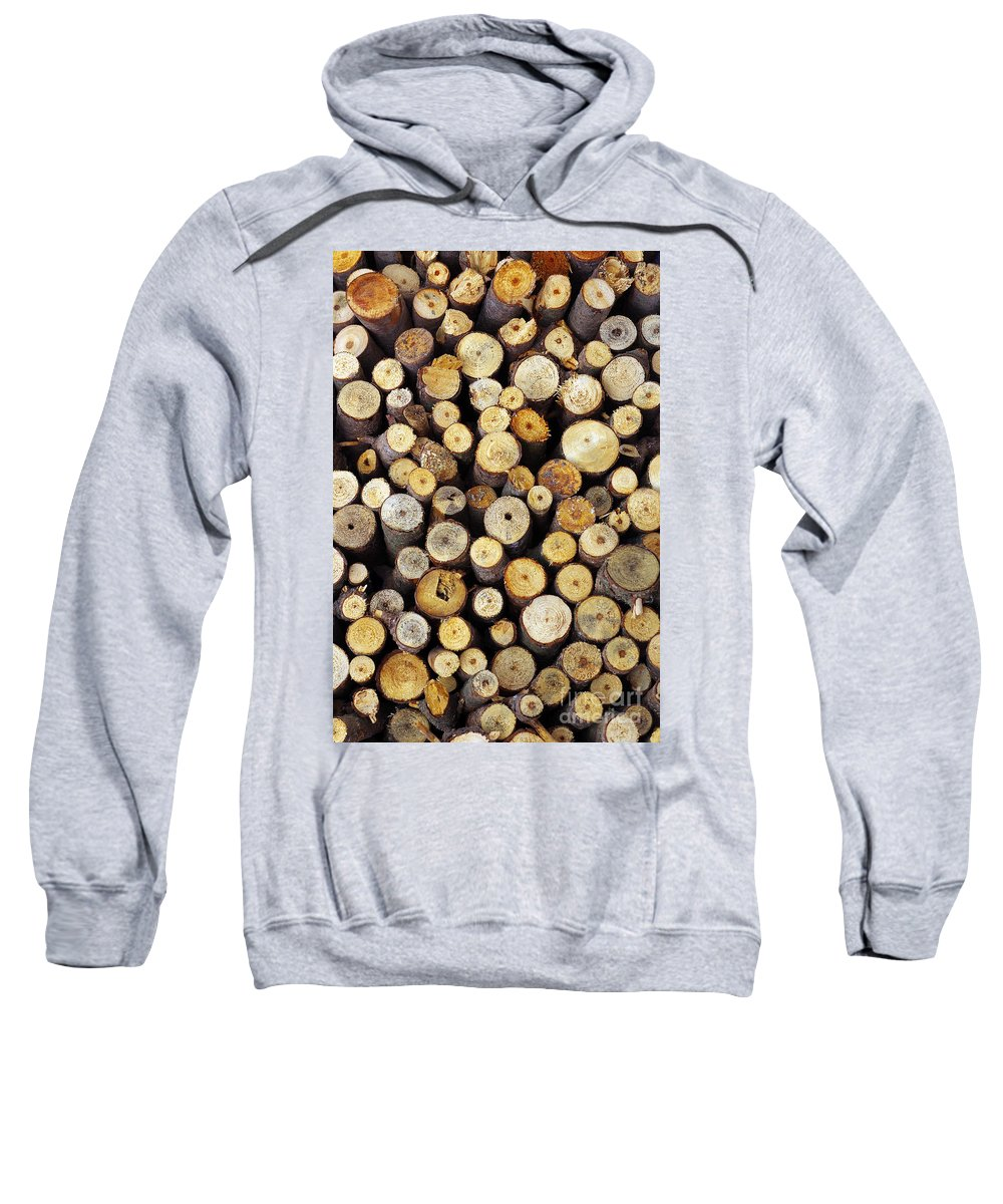 Autumn Sweatshirt featuring the photograph Firewood by Carlos Caetano