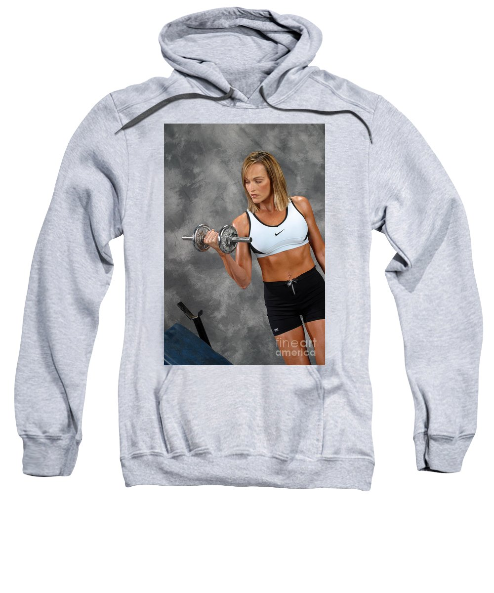 Model Sweatshirt featuring the photograph Fitness 5 by Gary Gingrich Galleries
