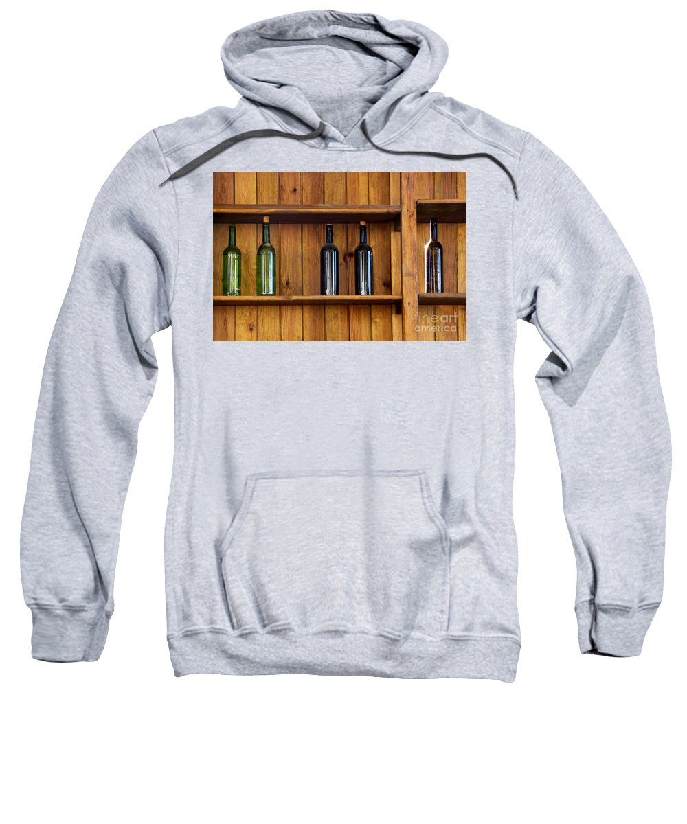 Abandoned Sweatshirt featuring the photograph Five Bottles by Carlos Caetano