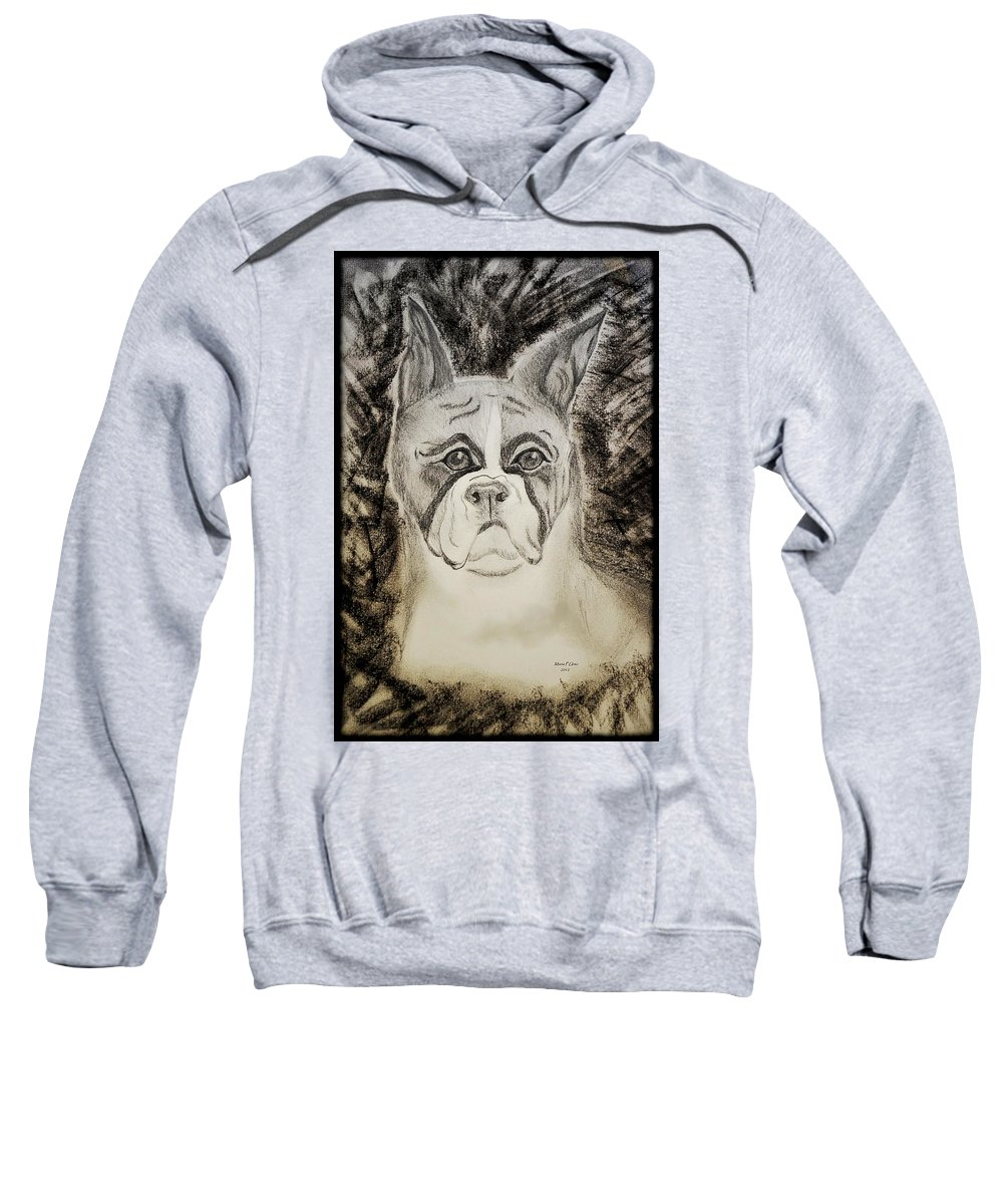 Flashy Sweatshirt featuring the photograph Flashy Boxer - Bw by Maria Urso