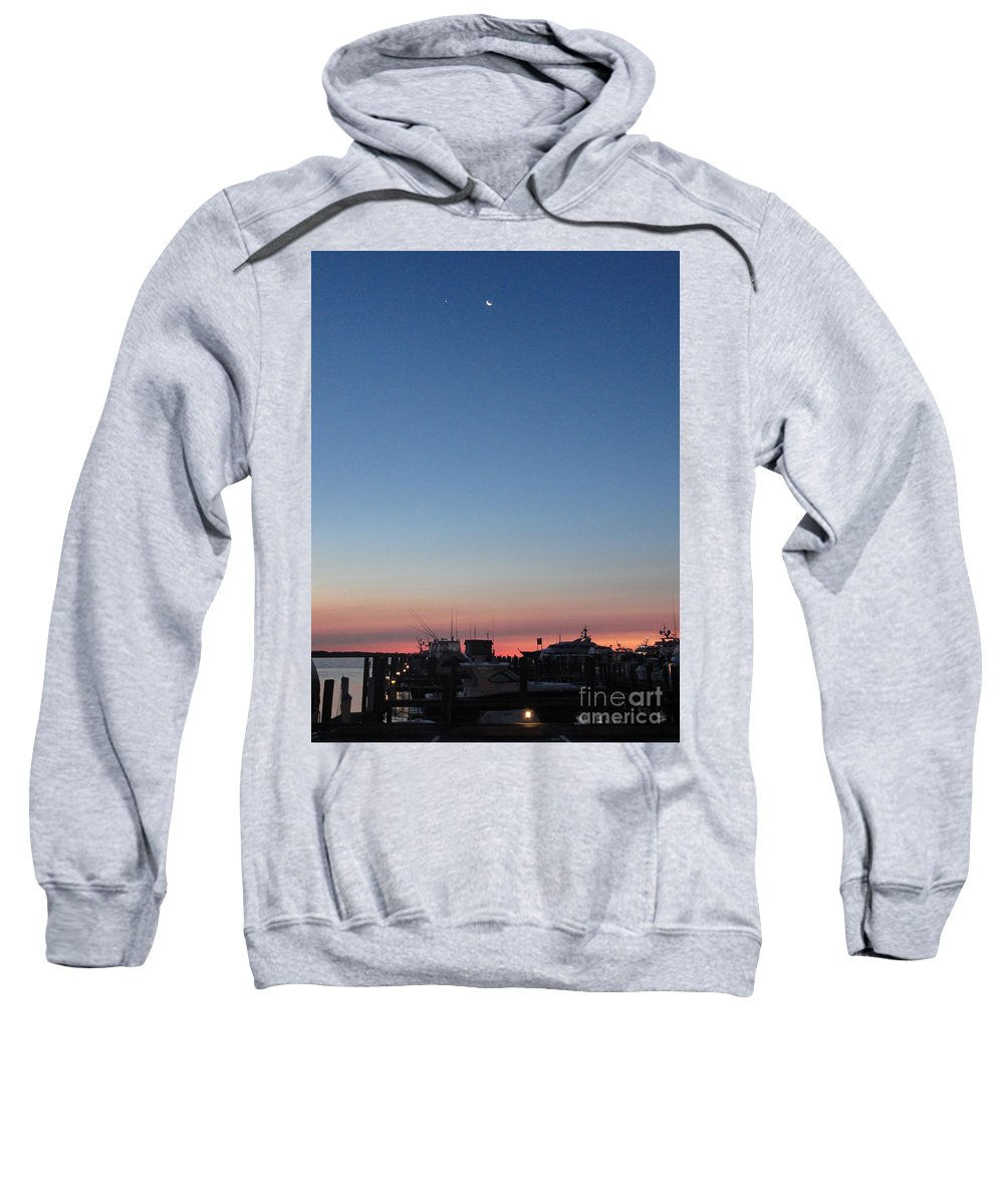 Moon Sweatshirt featuring the photograph Fleeting Night by Meandering Photography