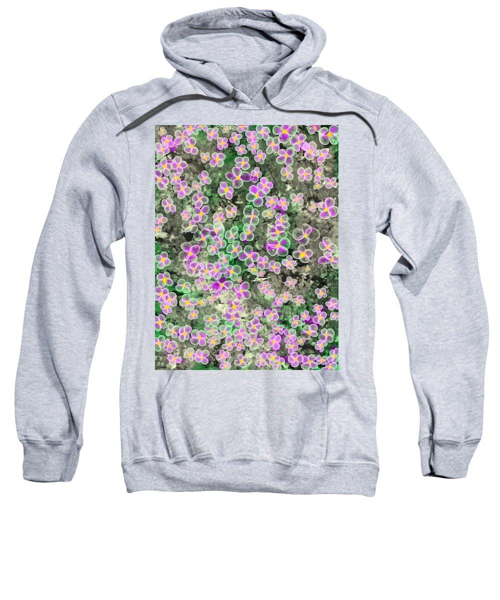 Flowers Sweatshirt featuring the digital art Fleurs De Nuit by Mathieu Lalonde