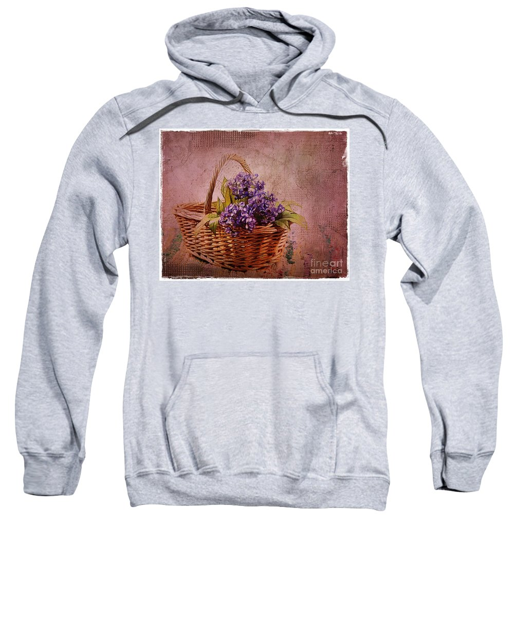 Flowers Sweatshirt featuring the photograph Flower Basket by Judi Bagwell