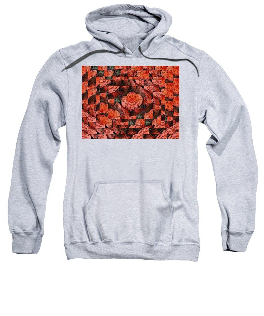 Flower Sweatshirt featuring the digital art Flower Garden Delightful by Tim Allen