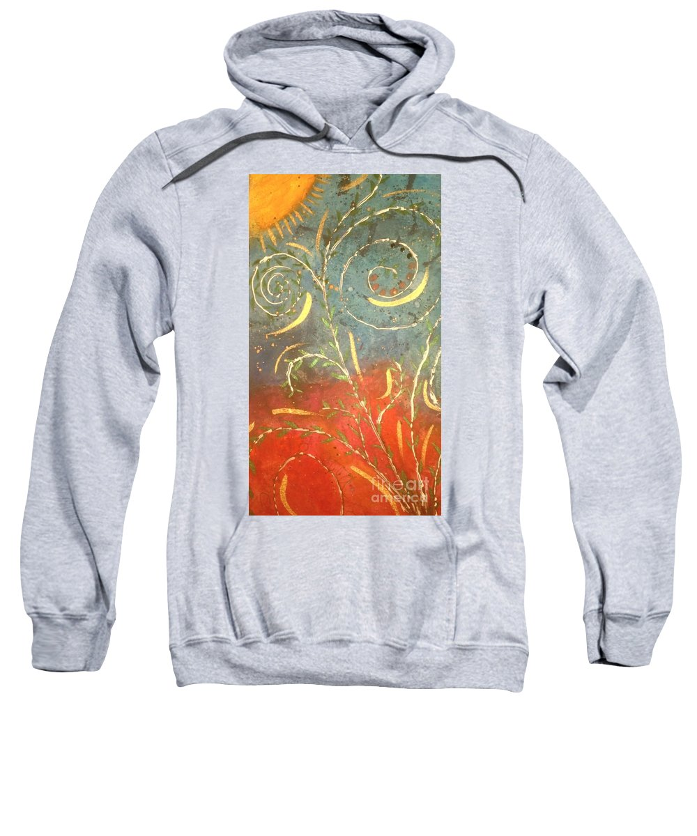 Greeting Cards Sweatshirt featuring the digital art Flowing Wild In The Sun by Angela L Walker