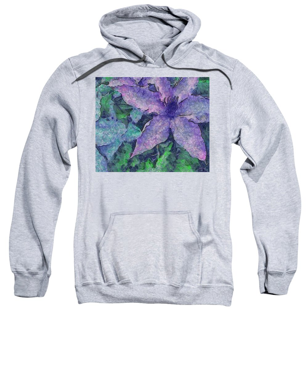 Clematis Sweatshirt featuring the photograph Focus On The Future by Trish Tritz