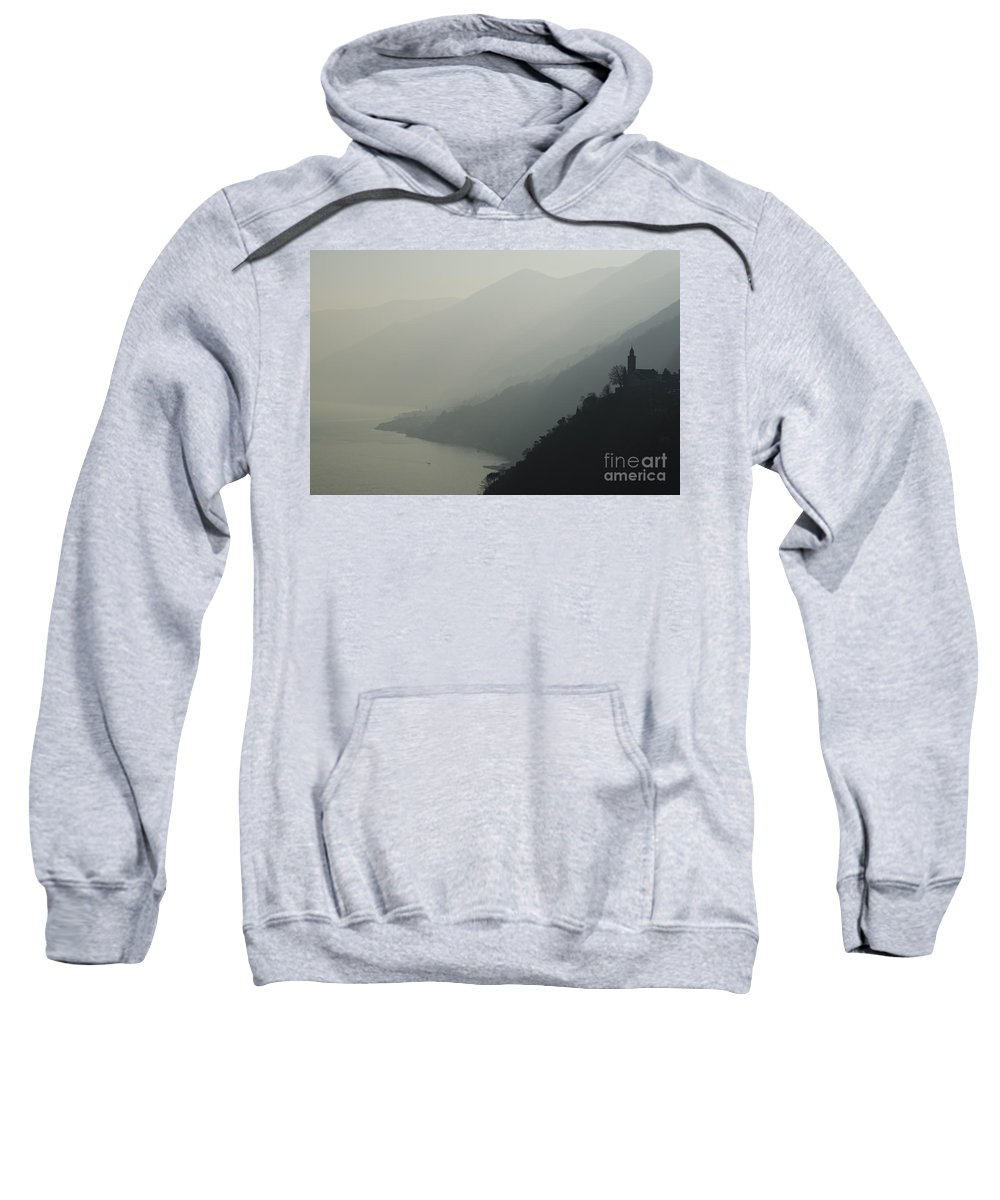Church Sweatshirt featuring the photograph Foggy Mountain by Mats Silvan