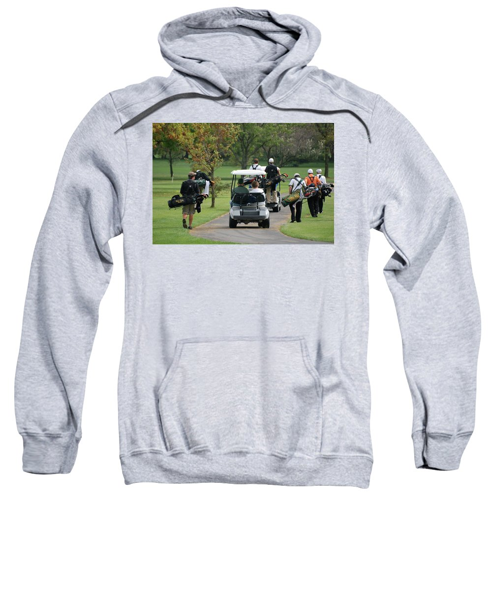 Golf Sweatshirt featuring the photograph Following The Team by Thomas Woolworth