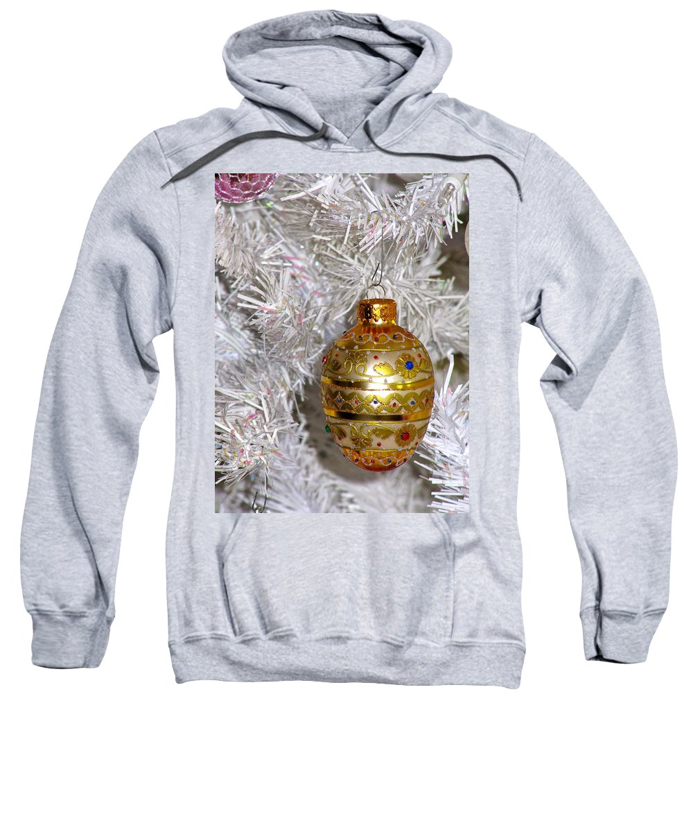 Beautiful Christmas Ornament Sweatshirt featuring the photograph For That Special Christmas Card by Phyllis Kaltenbach