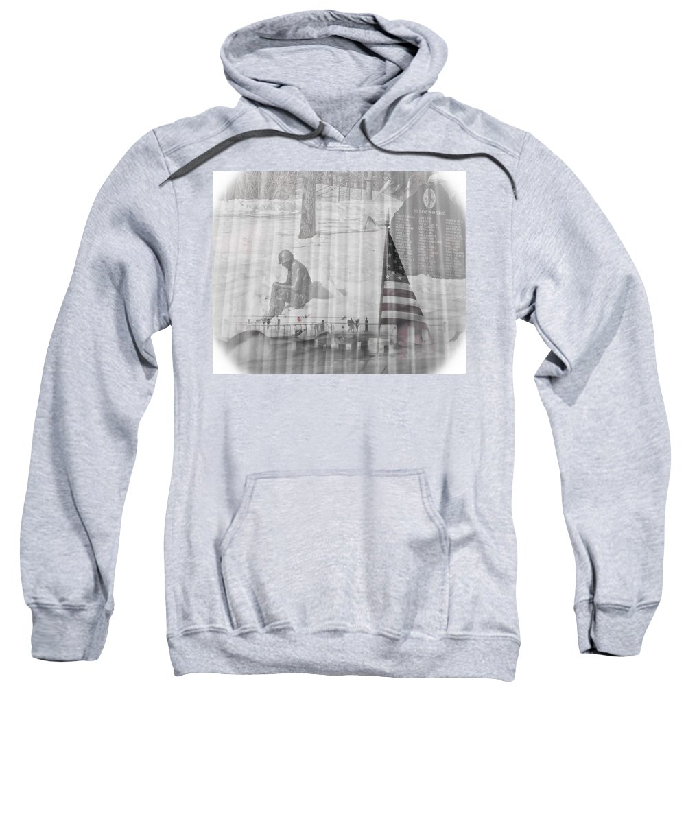 Soldier Sweatshirt featuring the photograph For Those Who Served by Trish Tritz
