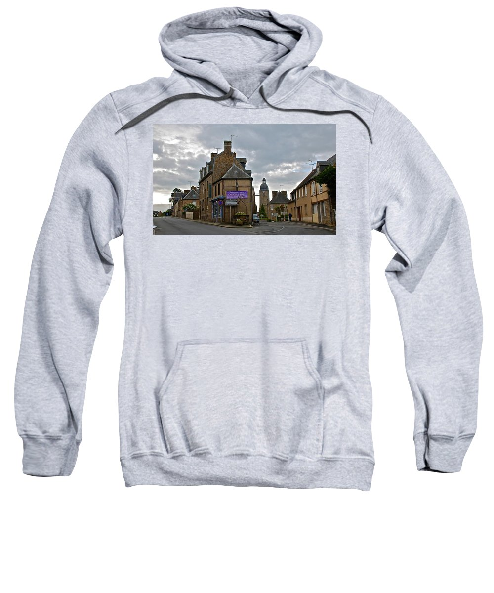 Ducey Sweatshirt featuring the photograph Forked Road by Eric Tressler