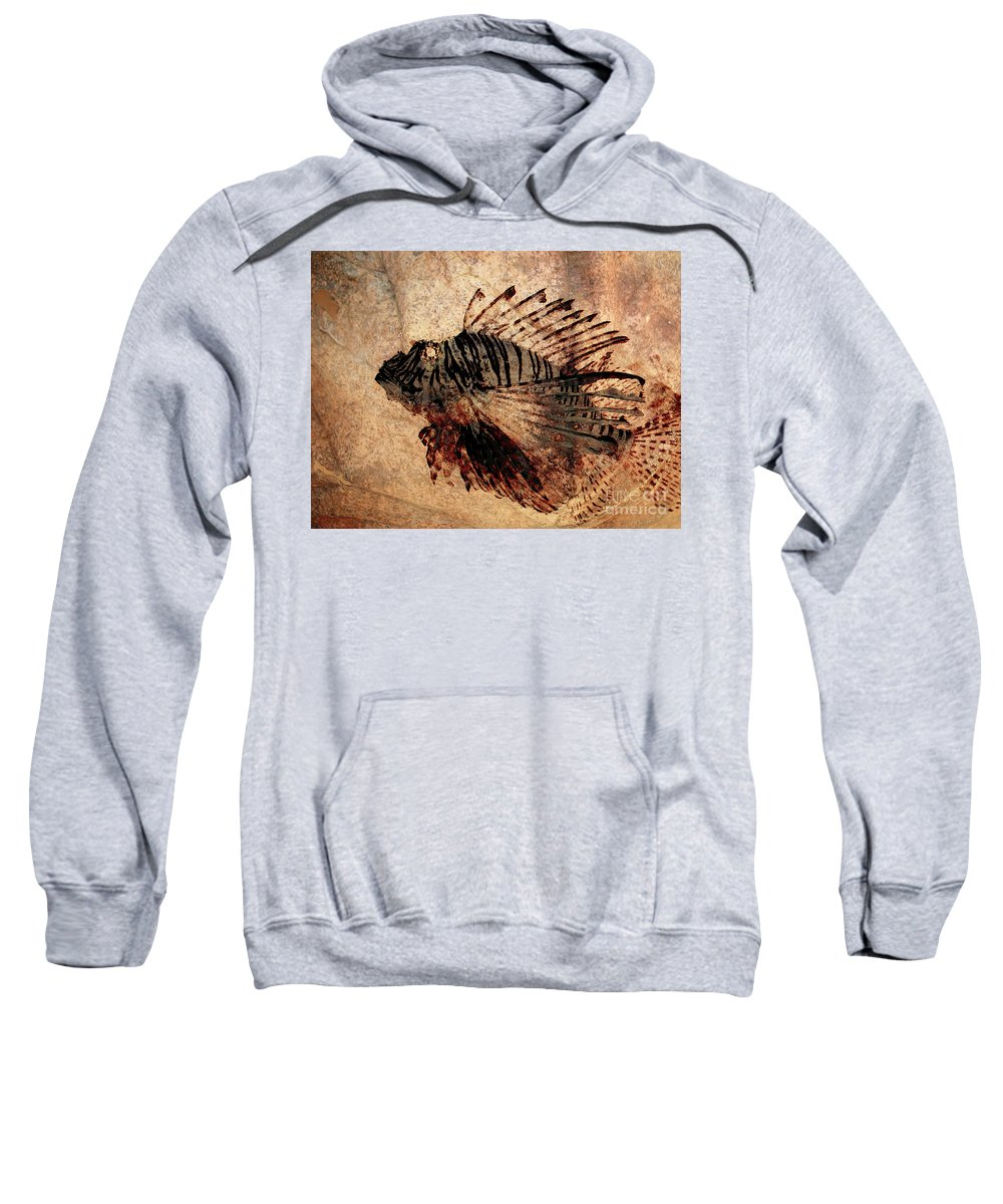 Fish Sweatshirt featuring the photograph Fossil by Ellen Cotton