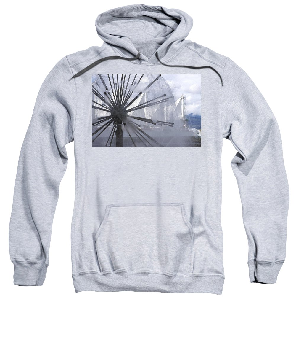 Fountain Sweatshirt featuring the photograph Fountain by Eunice Gibb