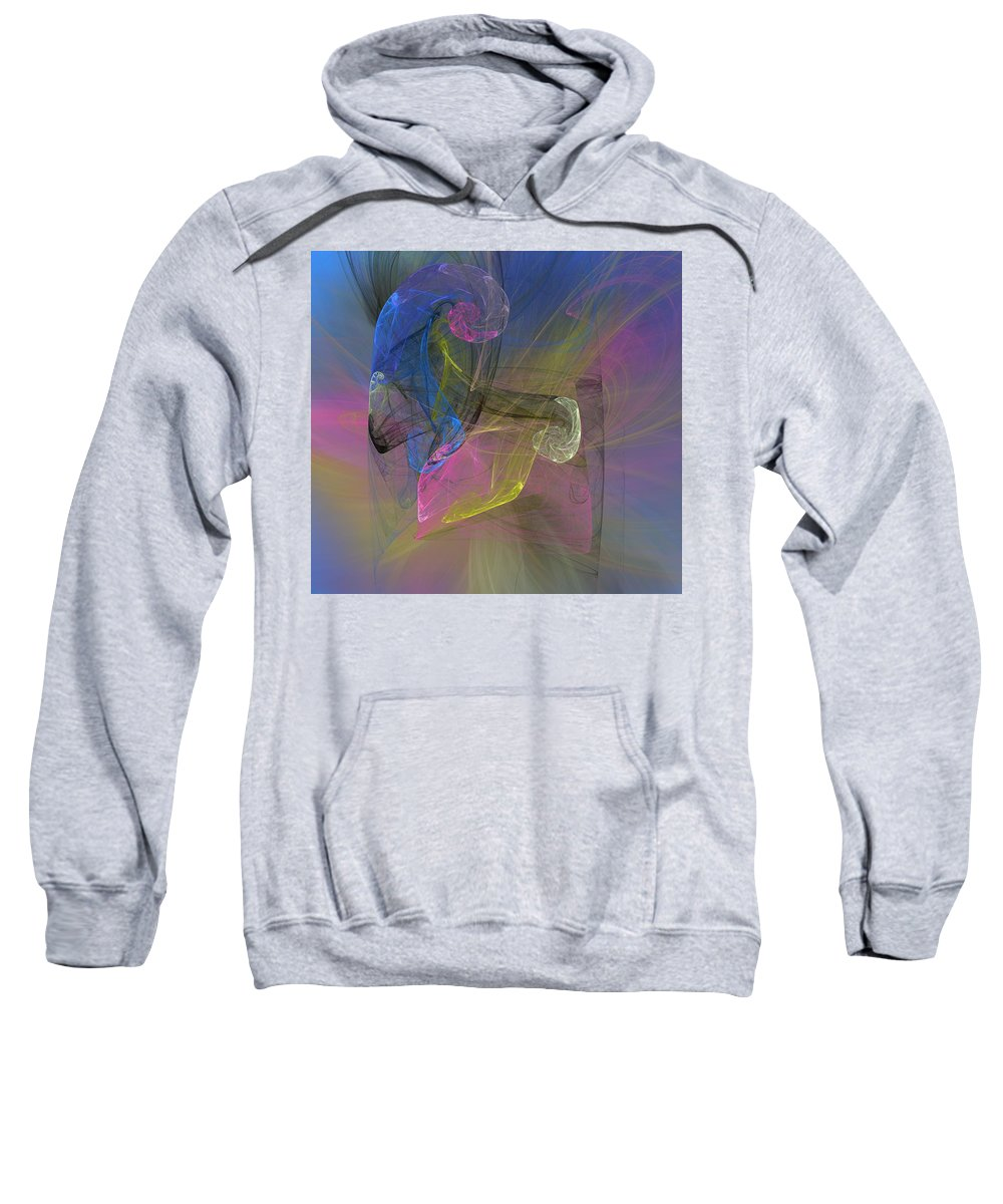 Digital Painting Sweatshirt featuring the digital art Fractimagination by Christy Leigh