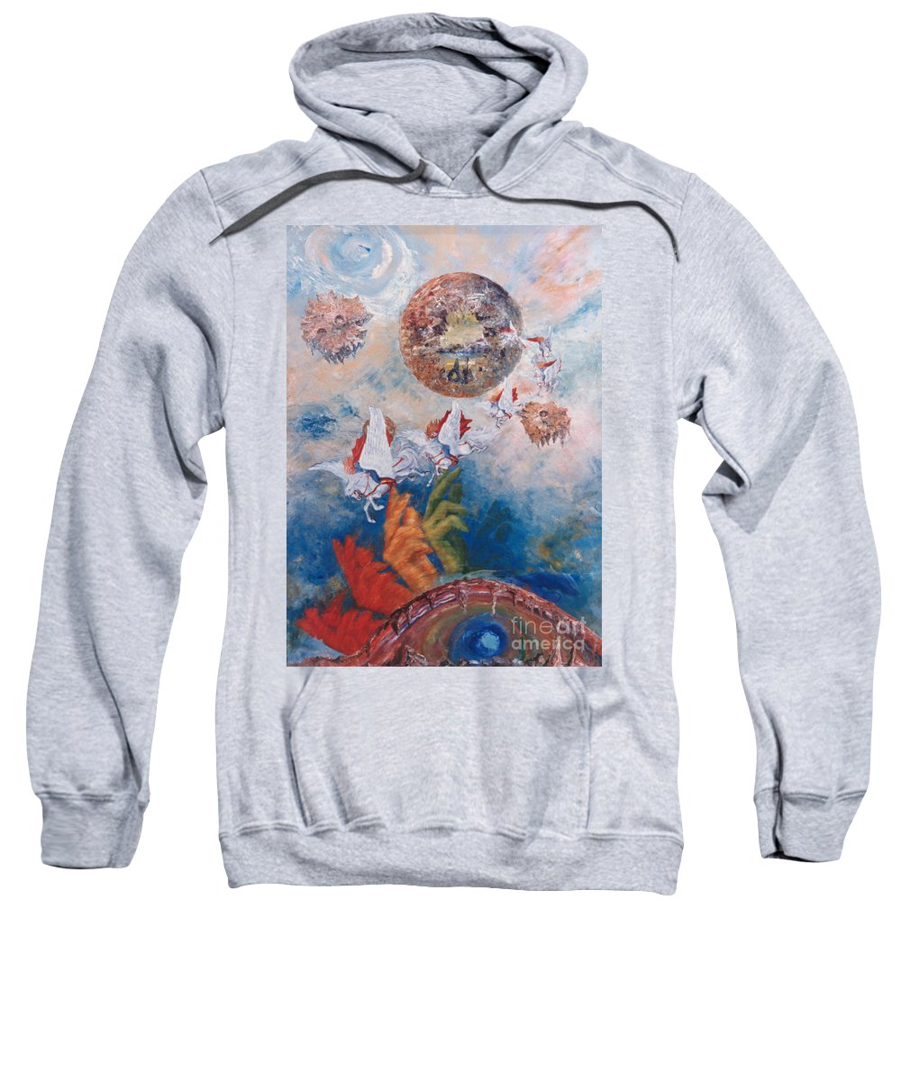 Freedom Sweatshirt featuring the painting Freedom - The Beginning Of All Being by Eva-Maria Di Bella