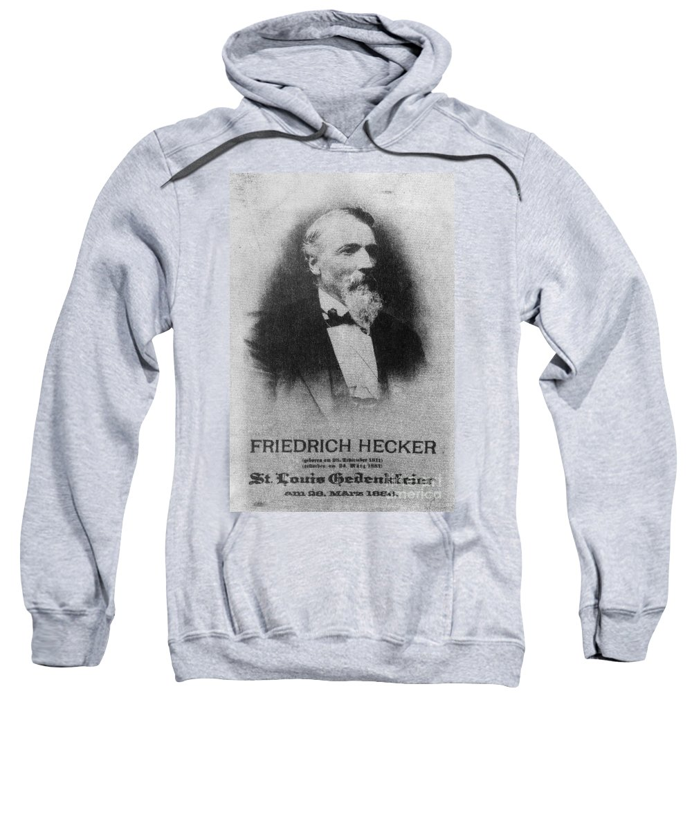 1886 Sweatshirt featuring the photograph Friedrich Hecker by Granger