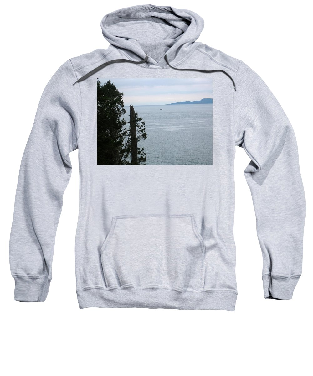 San Juan Sweatshirt featuring the photograph From The Bluff by Linda Hutchins