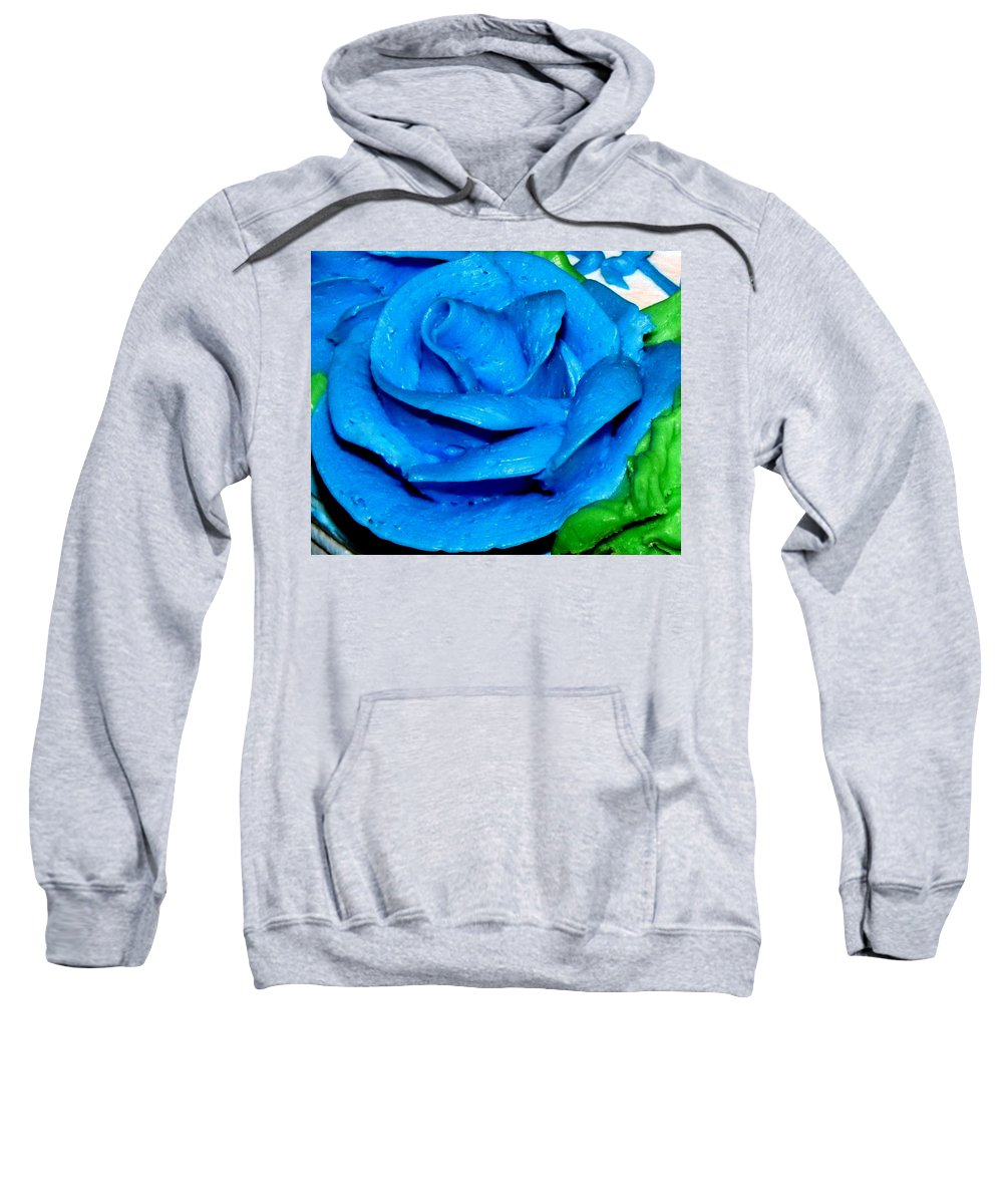 Rose Sweatshirt featuring the photograph Frosting Rose by Denise Keegan Frawley