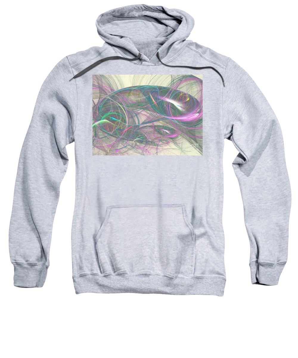 Apophysis Sweatshirt featuring the digital art Galene by Kim Sy Ok