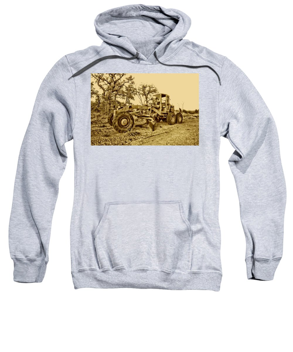 Galion Road Grader Sweatshirt featuring the photograph Galion Road Grader V2 by Douglas Barnard