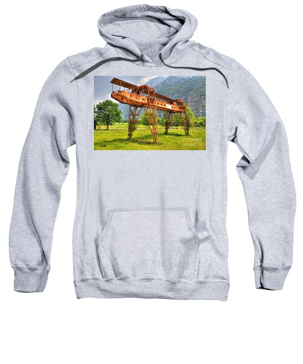 Gantry Crane Sweatshirt featuring the photograph Gantry Crane by Mats Silvan