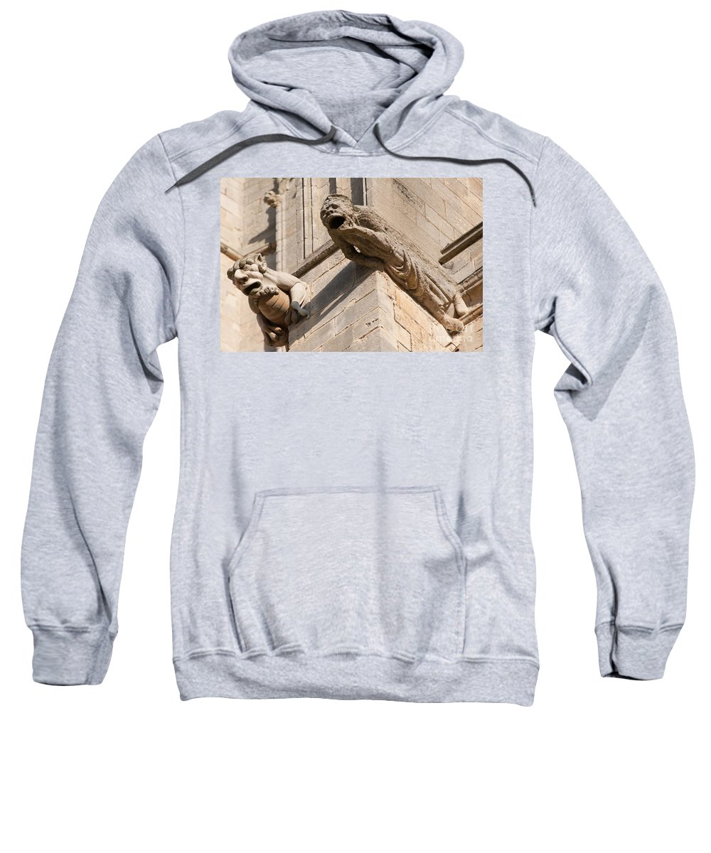 2 Sweatshirt featuring the photograph Gargoyles On Ely Cathedral by Andrew Michael