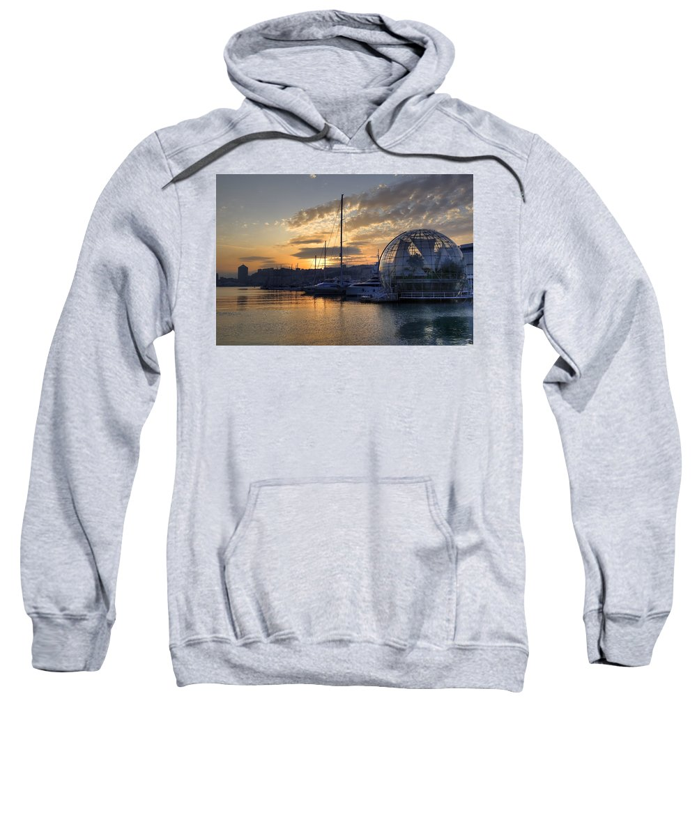 Biosphere Sweatshirt featuring the photograph Genoa by Joana Kruse