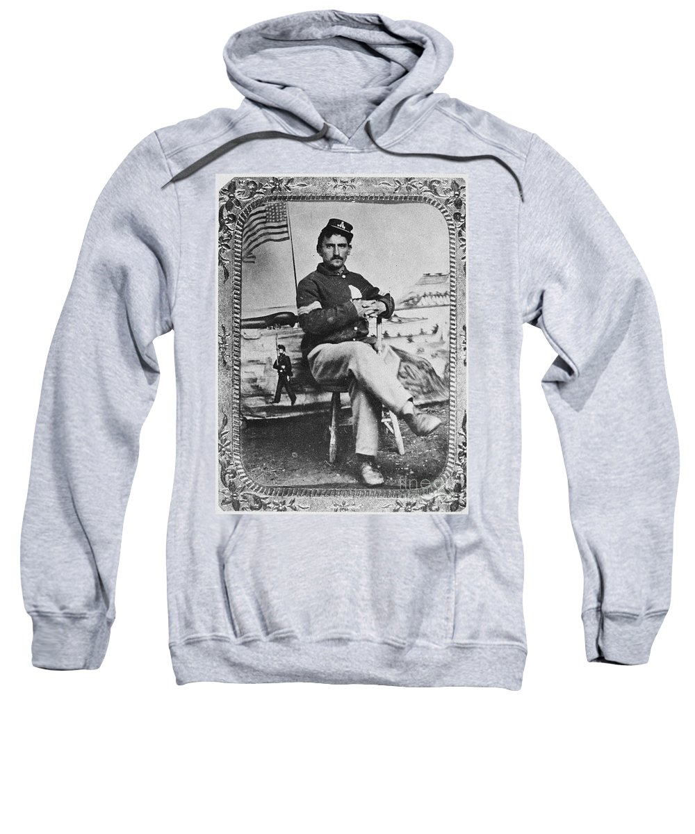 1860s Sweatshirt featuring the photograph George W. Whitman by Granger