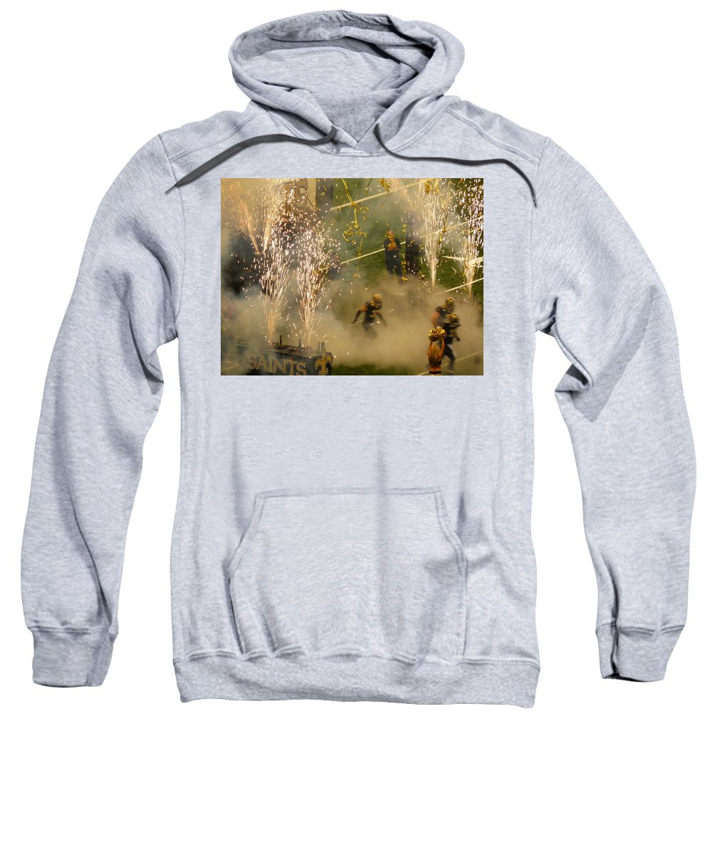 Green Background Sweatshirt featuring the photograph Getting Started by Anthony Walker Sr
