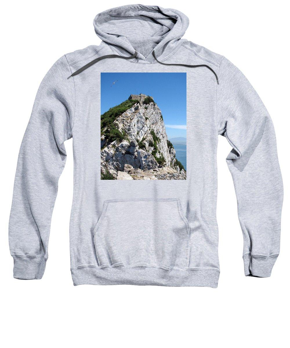Gibraltar Sweatshirt featuring the photograph Gibraltar's Moorish Castle by Carla Parris