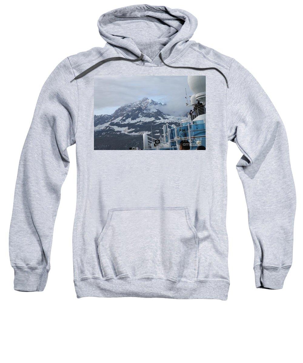 Glacier Bay Sweatshirt featuring the photograph Glacier Bay In Its Majesty by Pamela Walrath