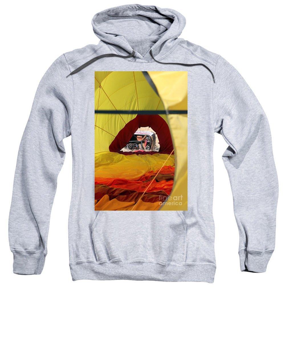 Basket Sweatshirt featuring the photograph Gondola Envelopment by Alycia Christine