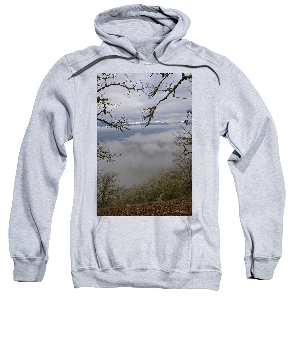 Fog Sweatshirt featuring the photograph Grants Pass In The Fog by Mick Anderson