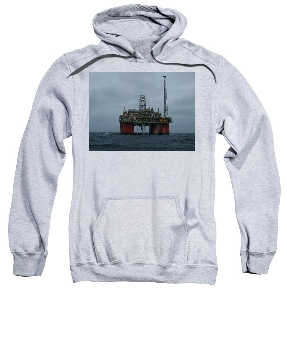 Photograph Sweatshirt featuring the photograph Grey Day At Snorre by Charles and Melisa Morrison