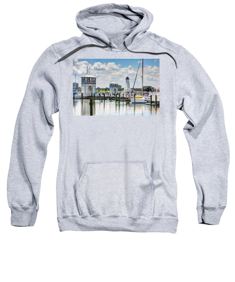 Harbor Sweatshirt featuring the photograph Gulfport Harbor by Joan McCool