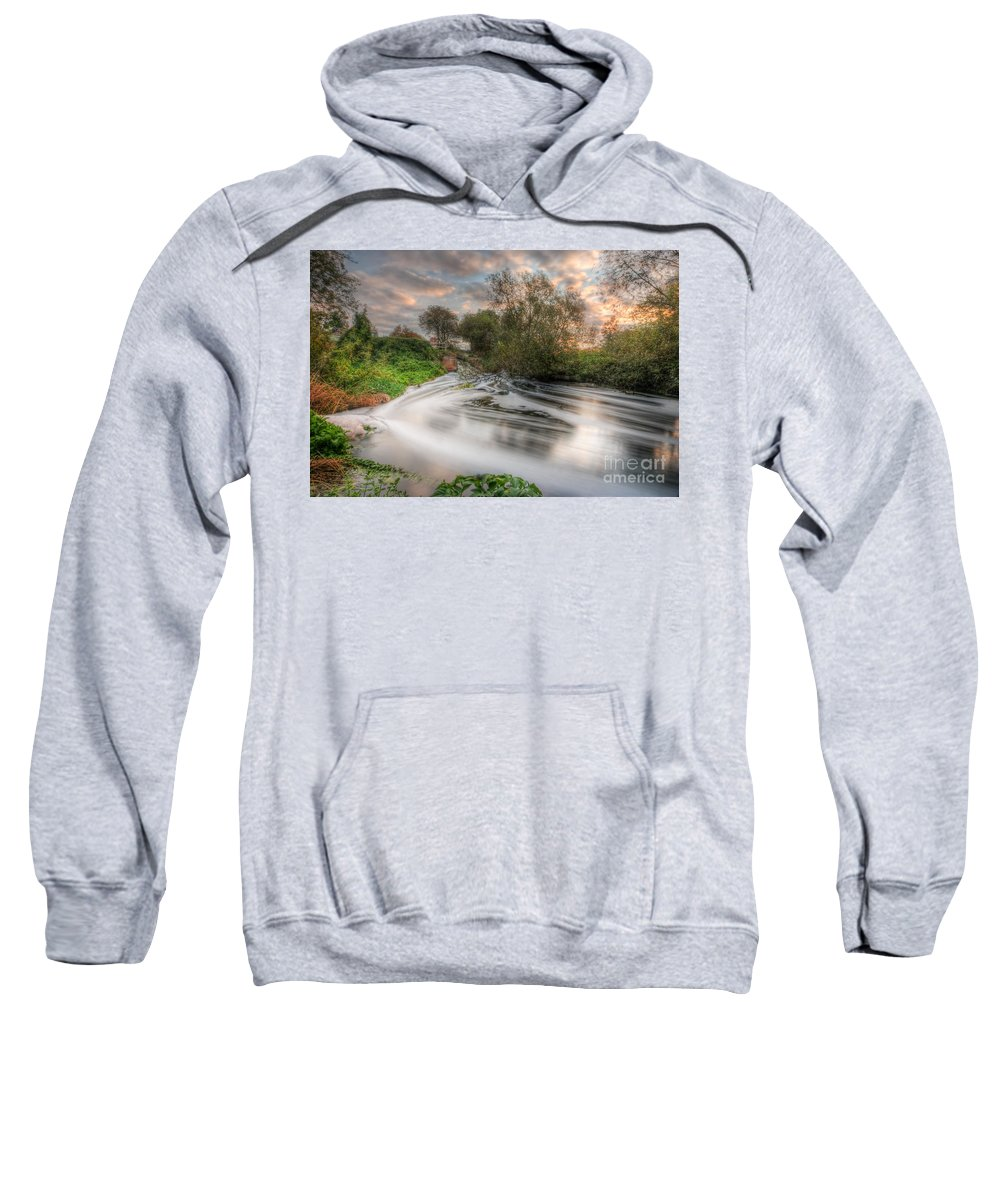 Hdr Sweatshirt featuring the photograph Gush Forth 3.0 by Yhun Suarez