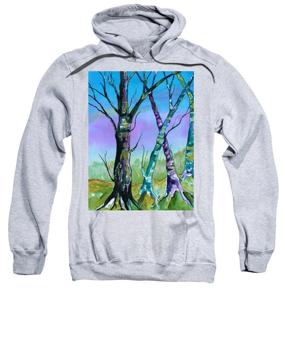 Landscape Sweatshirt featuring the painting Gypsy Sky by Brenda Owen
