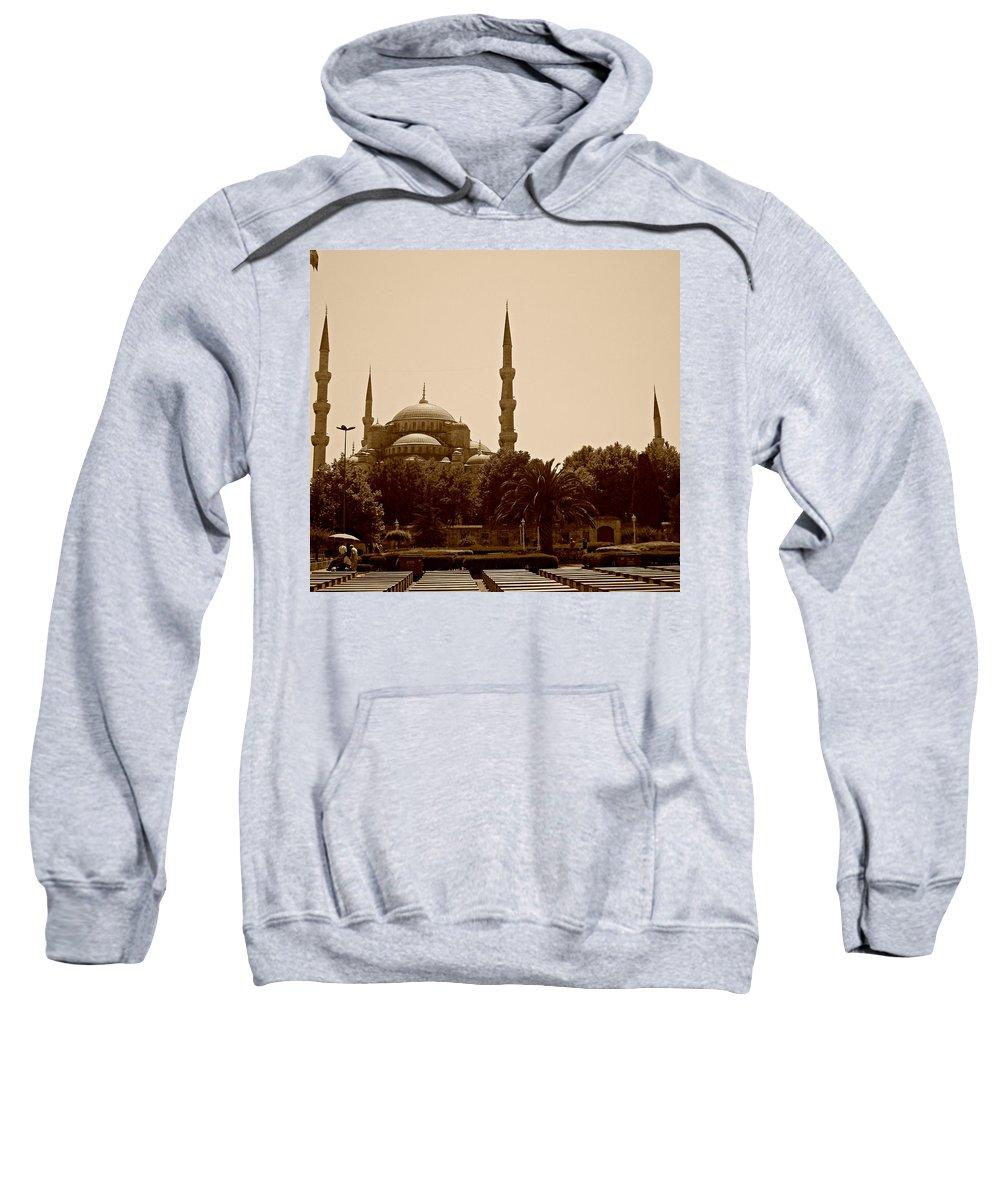 Hagia Sophia Picture Sweatshirt featuring the painting Hagia Sophia Istanbul by Georgeta Blanaru