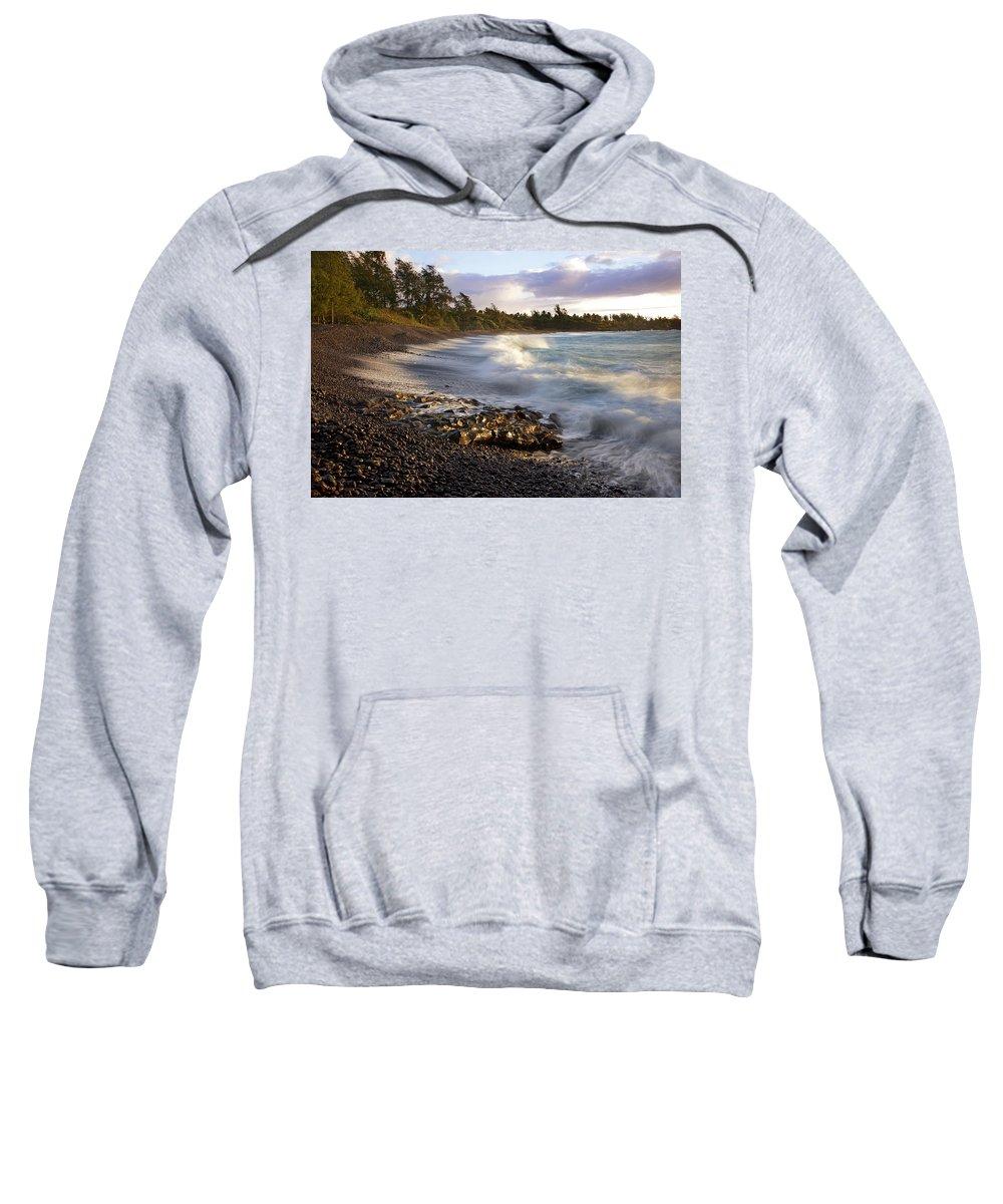 Bay Sweatshirt featuring the photograph Hana Beach And Wave by Jenna Szerlag