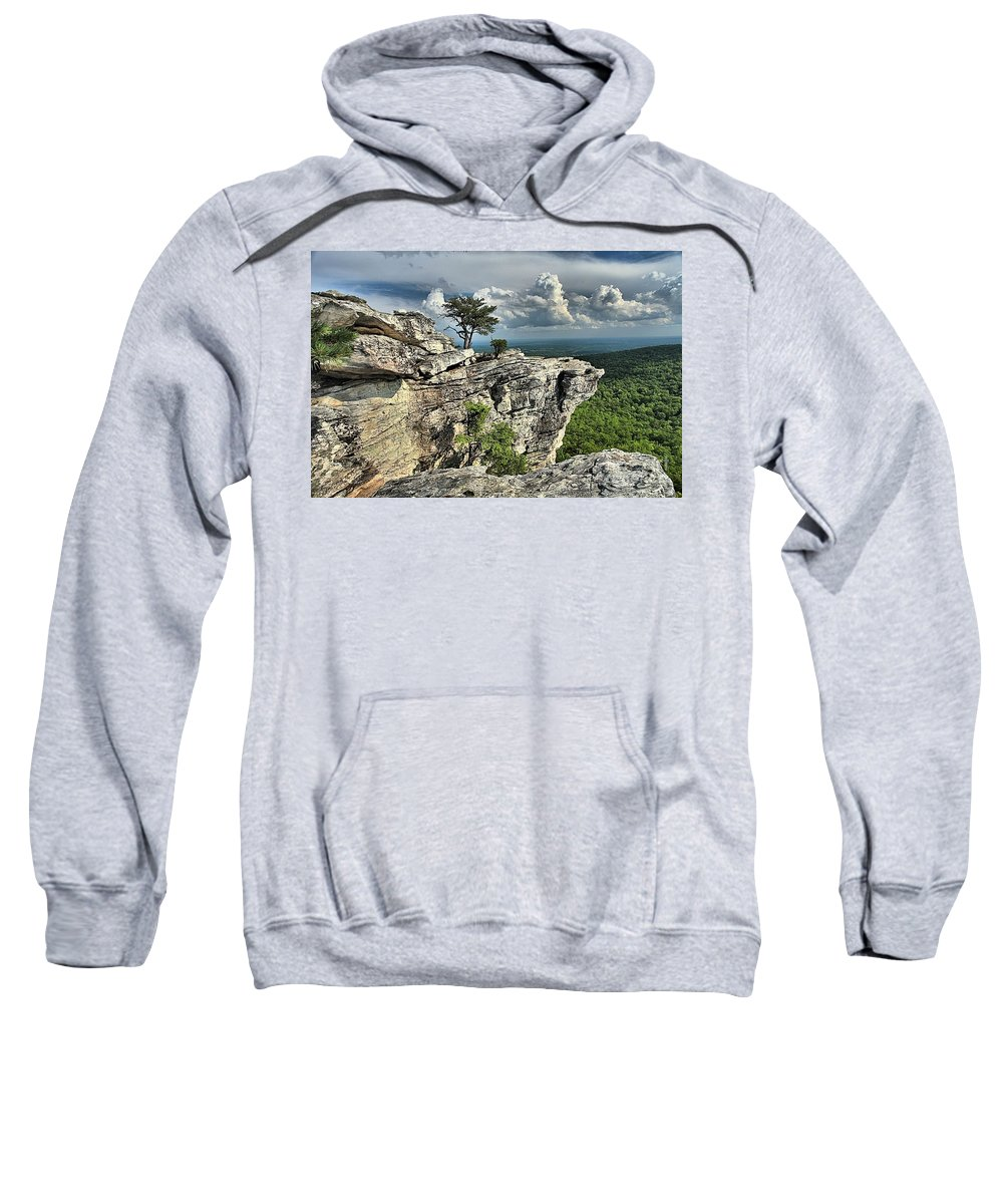 Hanging Rock State Park Sweatshirt featuring the photograph Hanging Below The Sky by Adam Jewell
