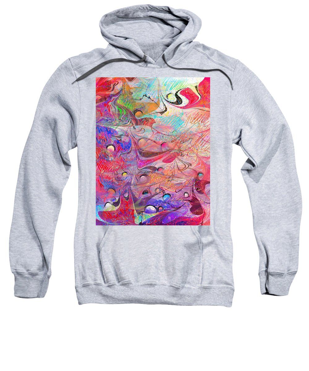 Happy Place Sweatshirt featuring the painting Happy Place I by Rachel Christine Nowicki
