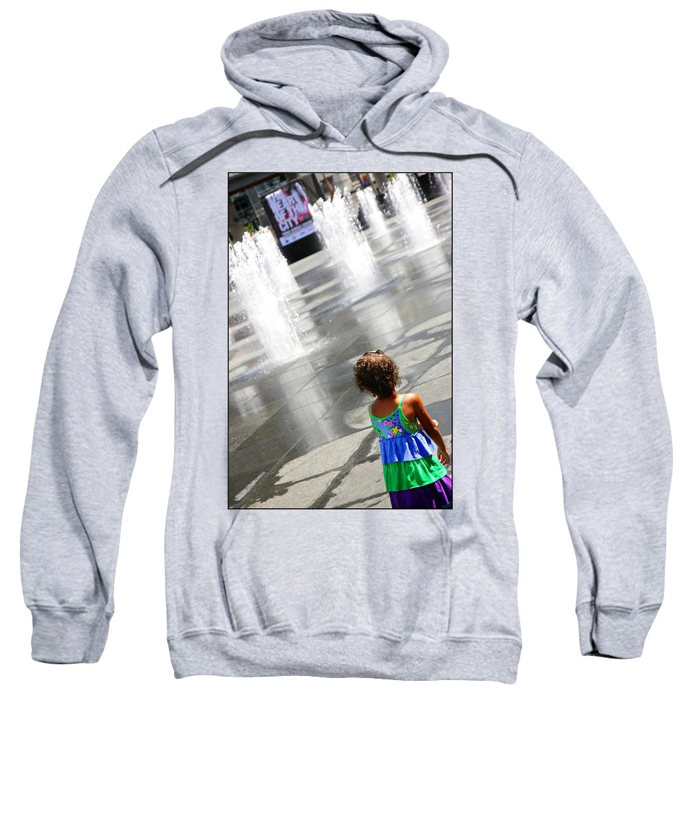 Heart Sweatshirt featuring the photograph Heart Of The City by Valentino Visentini