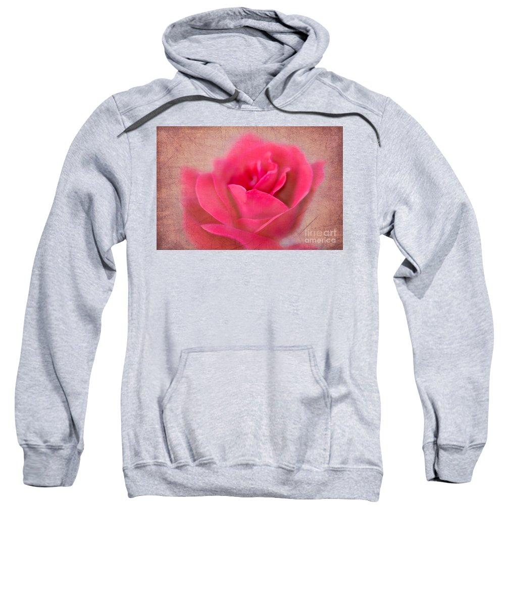 Rose Sweatshirt featuring the photograph Heart Of The Rose by Betty LaRue