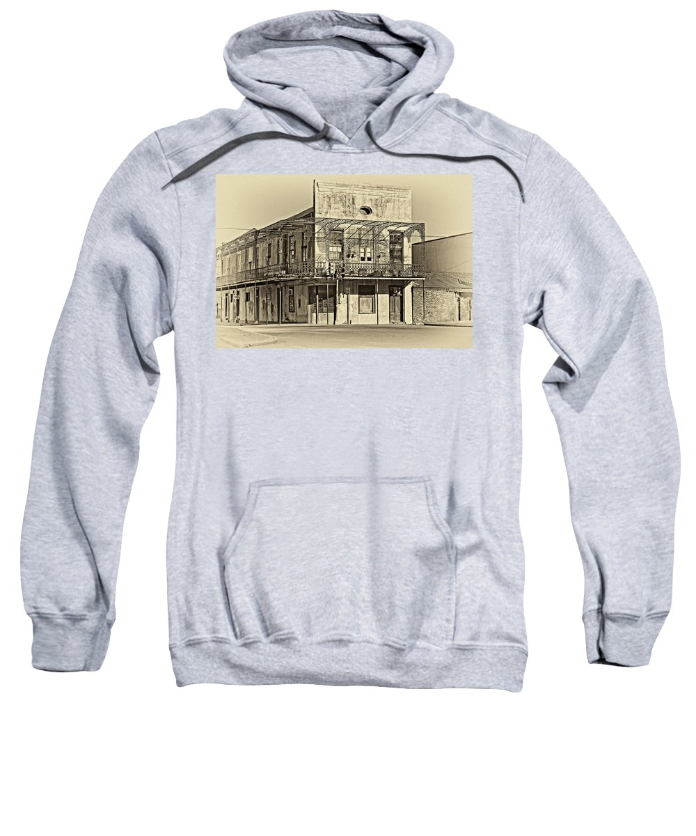 New Orleans Sweatshirt featuring the photograph History Lesson Sepia by Steve Harrington