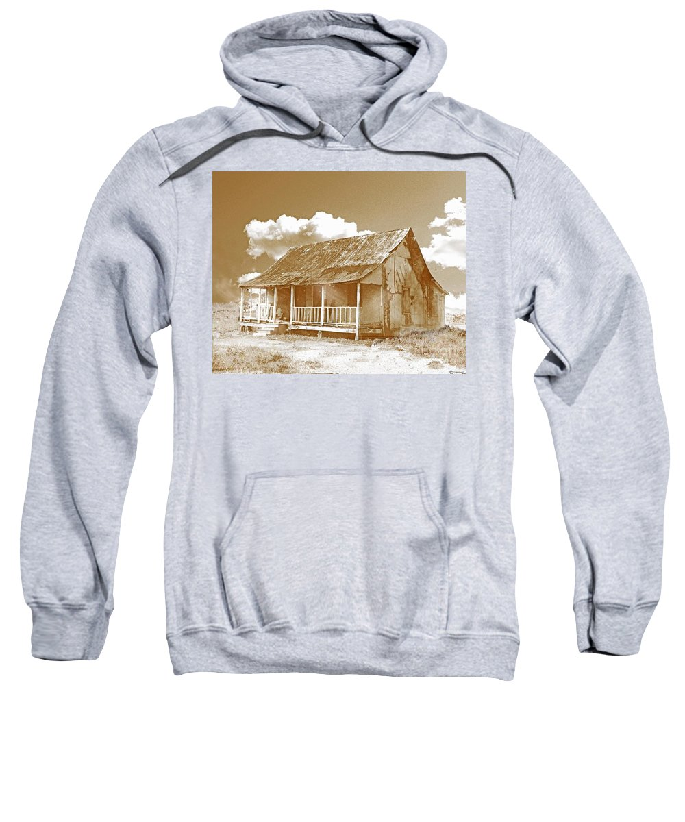 Shack Sweatshirt featuring the digital art Home Sweet Home Dreams by Lizi Beard-Ward