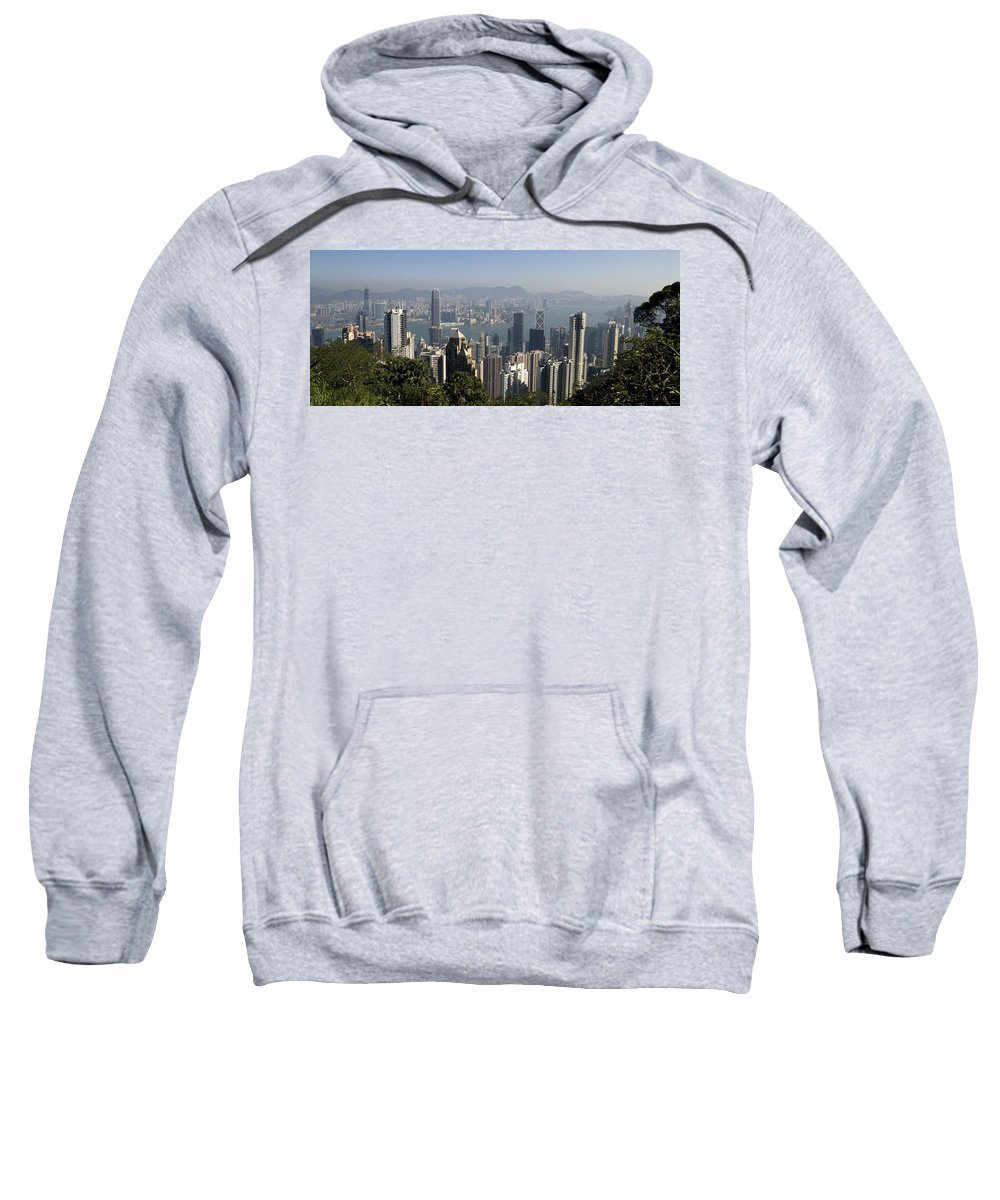 China Sweatshirt featuring the photograph Hong Kong Cityscape Hong Kong, China by Keith Levit