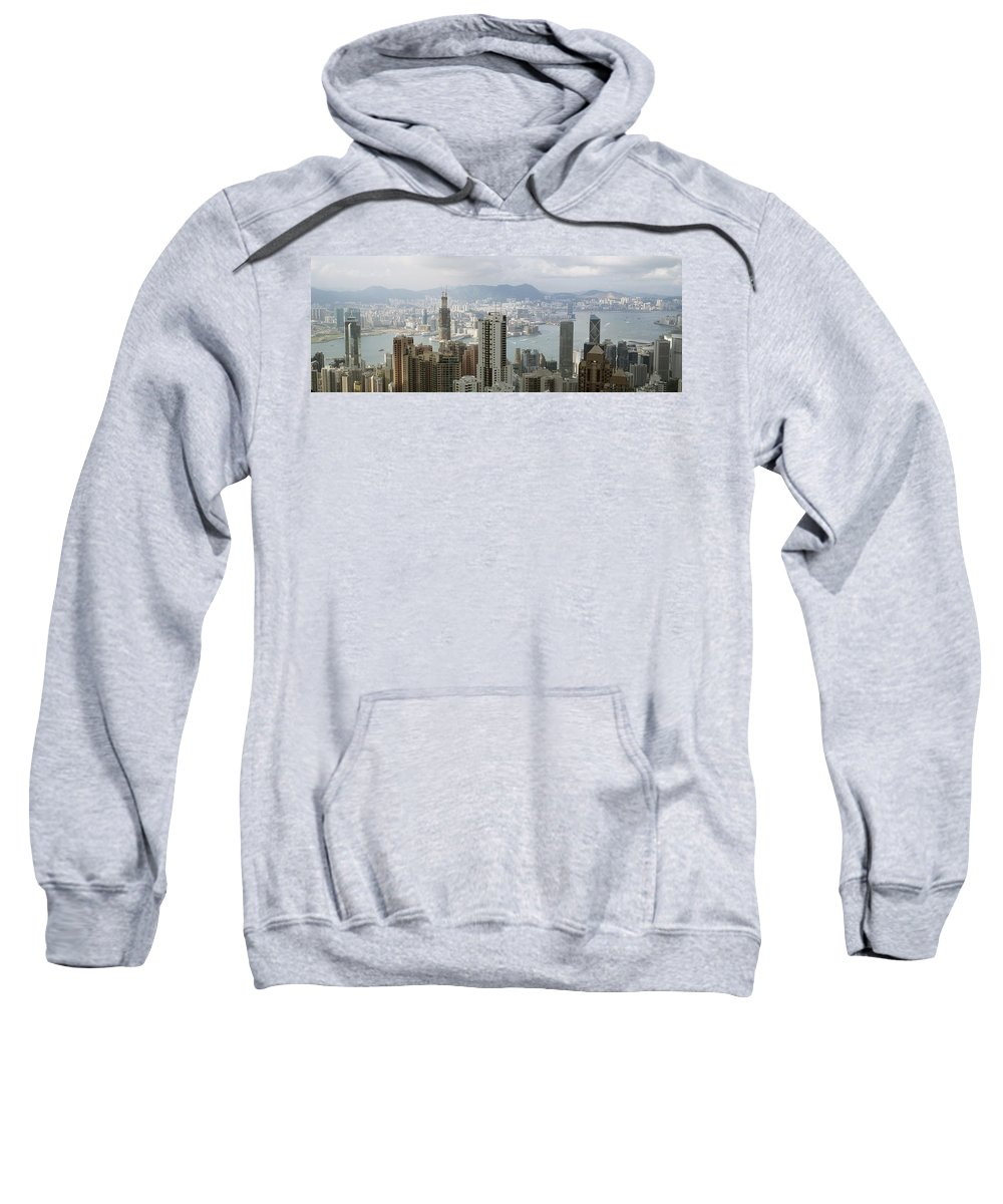 Photography Sweatshirt featuring the photograph Hong Kong Harbor by Axiom Photographic