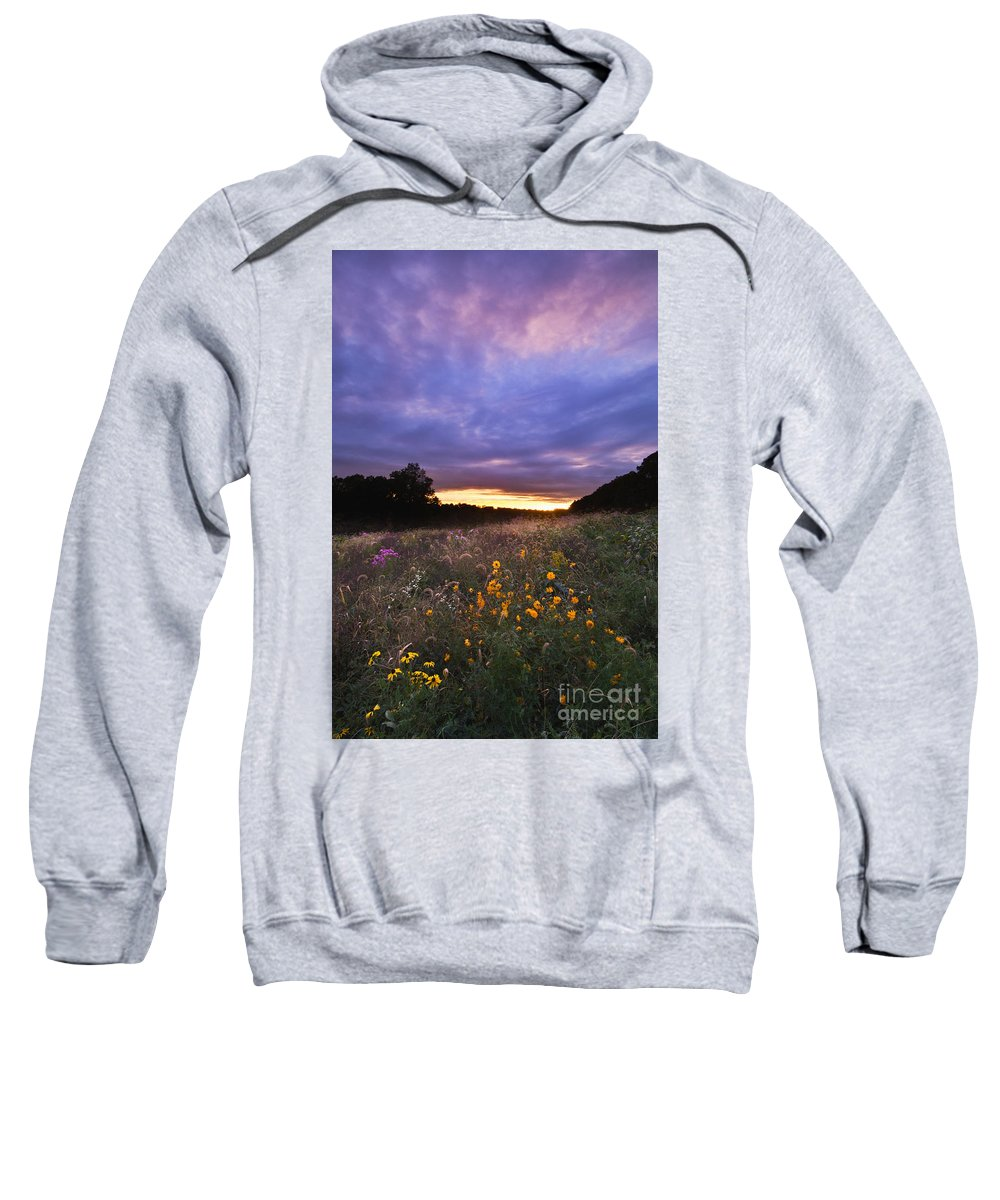 Sun Sweatshirt featuring the photograph Hoosier Sunset - D007743 by Daniel Dempster